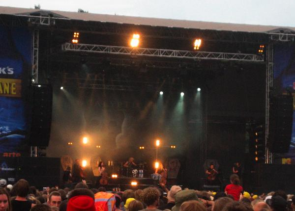 Apocalyptica playing at Hurricane 2006