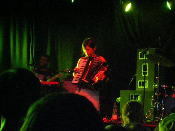 Guitarist and Keyboarder of Pretty Girls Make Graves playing at Hurricane 2006