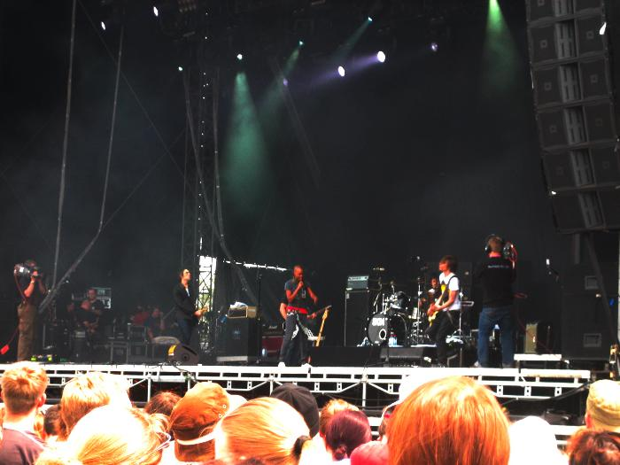 Skin on stage at Hurricane 2006