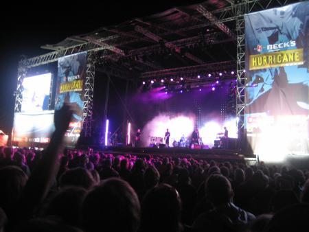 Interpol on stage