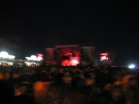 Blurry Marilyn Manson stage
