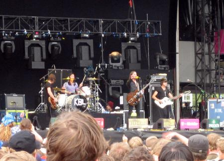 Kings of Leon on stage