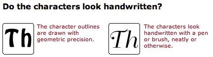 Identifont geometric vs. Handwritten images.