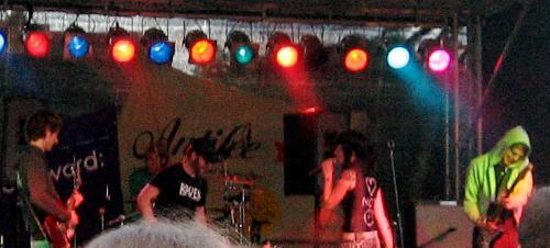 Iskra on stage