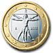Back of Italian 1 € coin