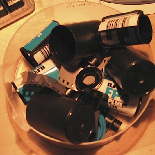Empty film cases