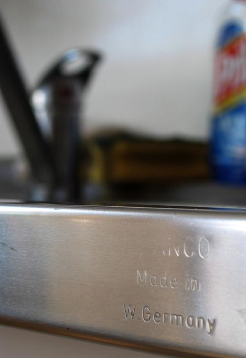 Made in W. Germany text on our sink