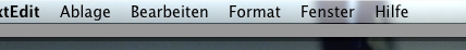 Example of the menu bar in X.5 looking bad