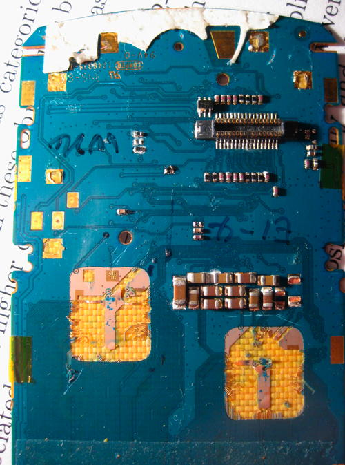 Part of the phone's main board