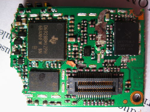 back side of the daughterboard