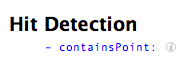 NSBezierPath Hit Detection  only lists -containsPoint: