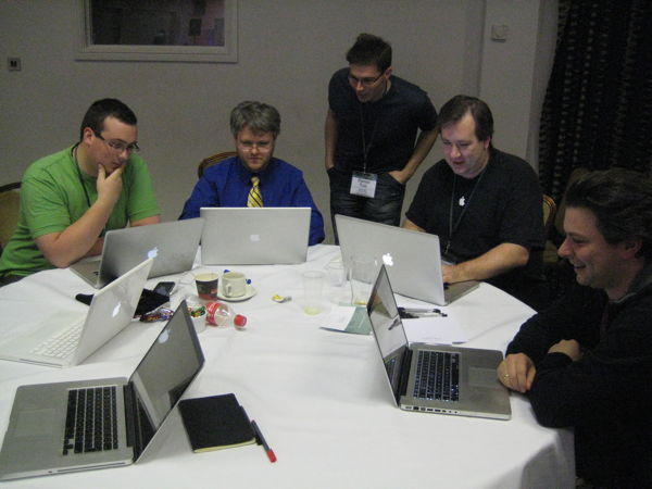 Team CoreAudio working on their presentation at NSConference 2010