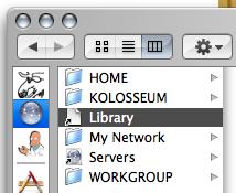 'Networks' folder in the Finder