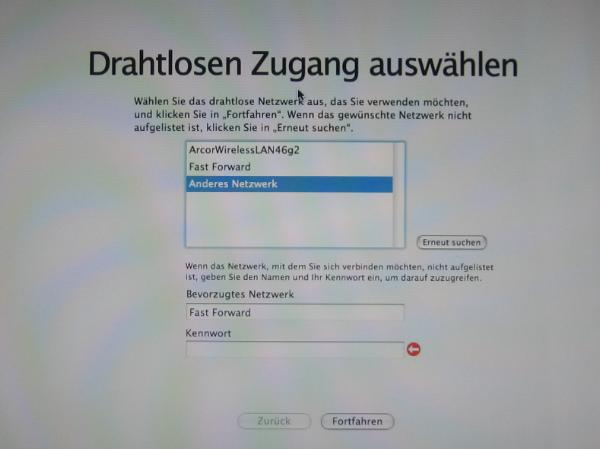 Network Setup Assistant Failing
