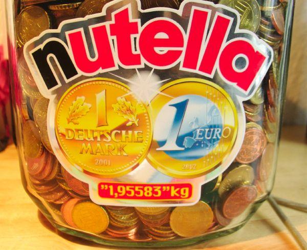 1,95583kg nutella glass