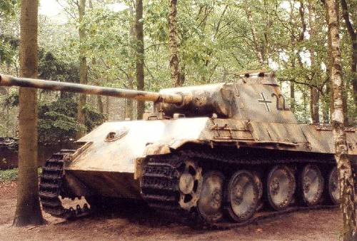 Photo of a broken  Panther Tank