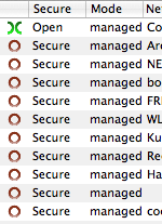 Many secure wireless networks and a single open one