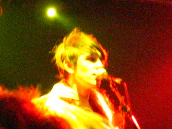 Patrick Wolf on stage, singing