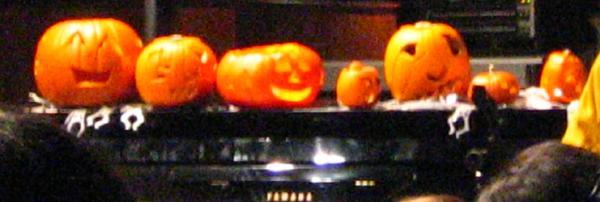More pumpkins on stage