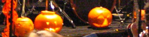 Pumpkins on stage