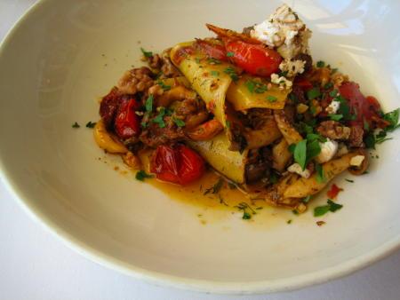 Open Ravioli dish