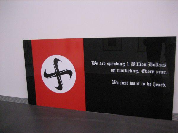 Swastika made of Nike logos