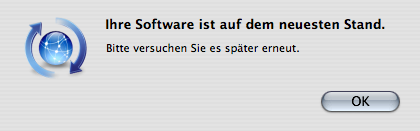 Please try again message shown by software update
