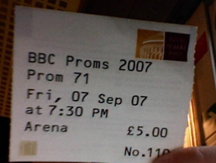 Prom 71 Ticket
