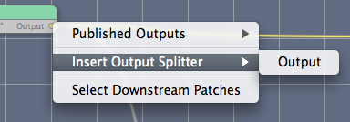 Contextual menu to 'insert splitters'
