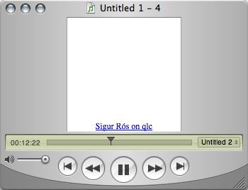 QuickTime Player window with the improved Sigur Rós file