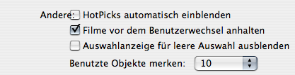 part of German QuickTime Player preferences with overlapping labels