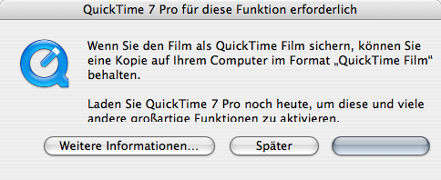 QuickTime begging
