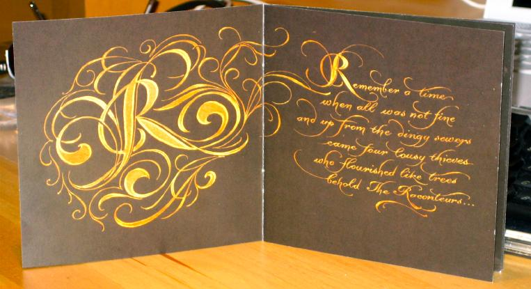 Inner pages of Raconteurs booklet
