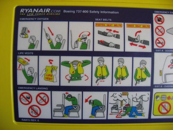 Ryanair Boeing 737-800 Safety Information