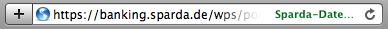 Safari 4b1's address bar