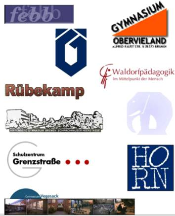 Logos of different schools in Bremen