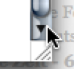 Clicked Scroll Arrow in OS X