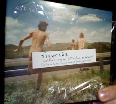 Sigur Rós CD with plastic wrapping and sticker.