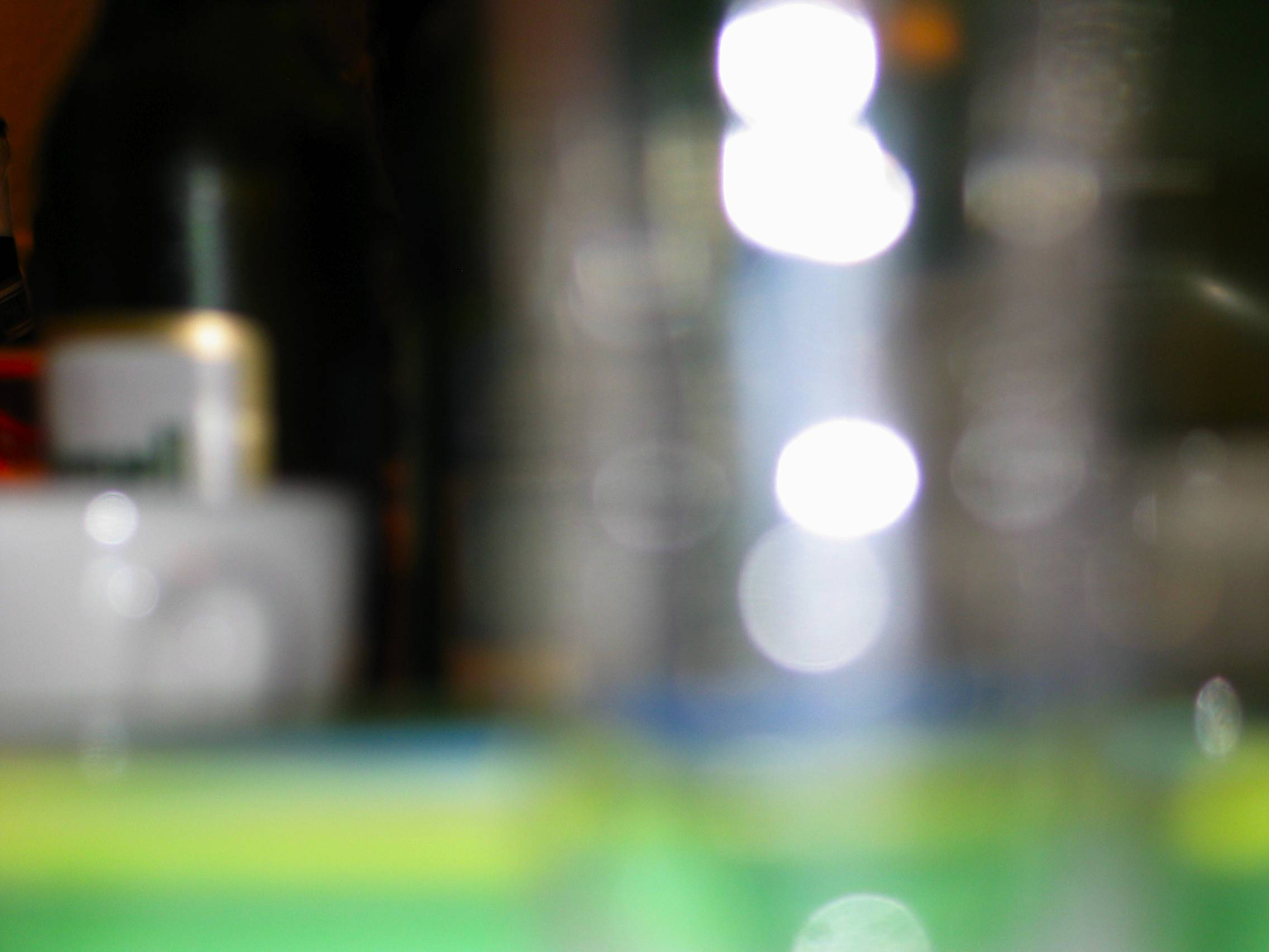 out of focus bottles