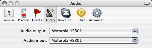 Skype Audio preferences