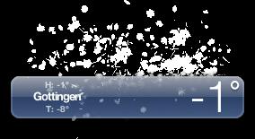 Weather widget snow