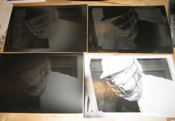 four prints, two of which have been reasonably well solarised