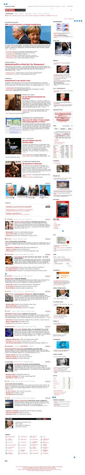 Spiegel Online the way it normally looks