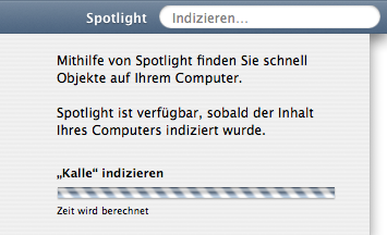 Spotlight indexing your drive