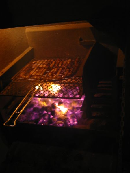 Braai in use