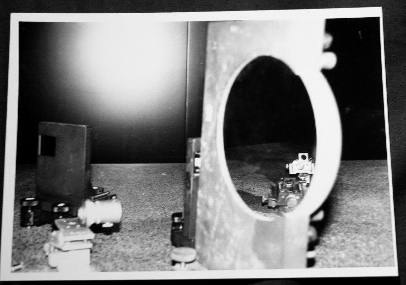 Dark lab with mirror