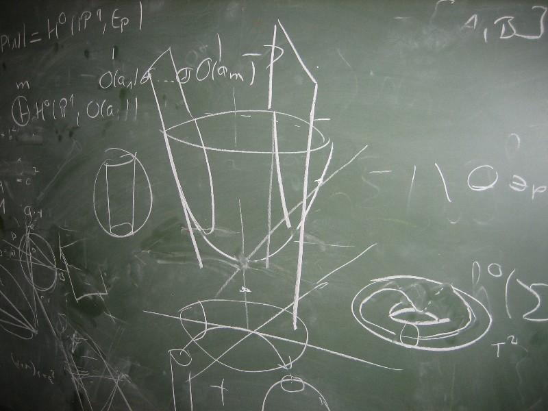 Photo of a blackboard with some maths on it