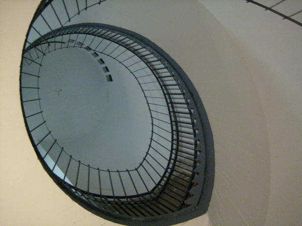 Fake extension of the staircase in the bunker containing Uebel & Gefährlich