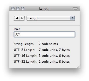 UnicodeChecker Length Utility