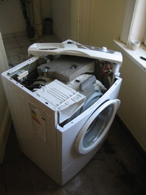 Opened Washing Machine